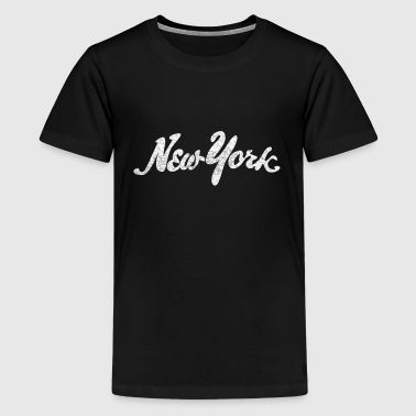 Distressed New York Drawn - Kids' Premium T-Shirt