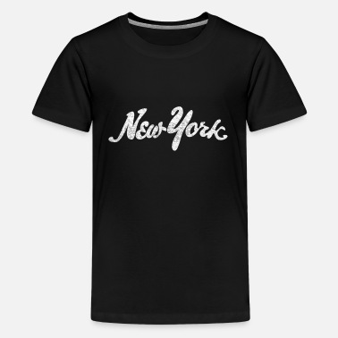 Cool New York Distressed Distressed New York Drawn - Kids' Premium T-Shirt