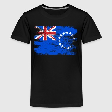 Cook Island Flag Cook Islands Shirt Gift Country Flag Patriotic Travel Oceania Light - Kids' Premium T-Shirt