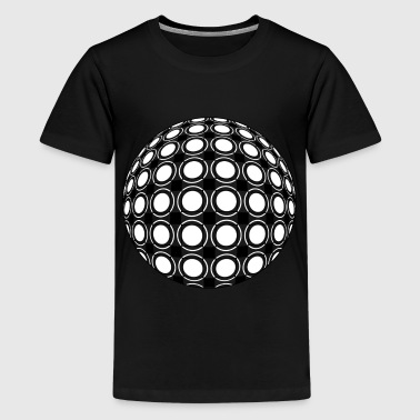 Sphere | Abstract Op Art | Black & White - Kids' Premium T-Shirt