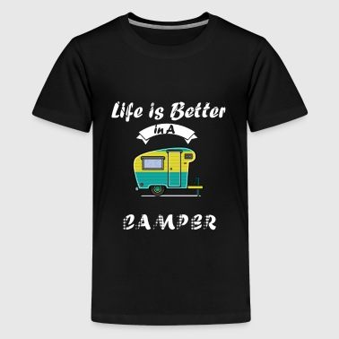 Downsizing Happy Life in Camper - camping - Kids' Premium T-Shirt