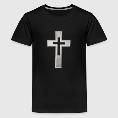 Silver Christian cross - Kids' Premium T-Shirt