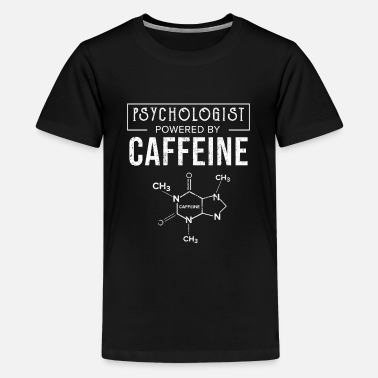 Doctor Who Psychologist Powered By Caffeine Psychology Gift - Kids' Premium T-Shirt