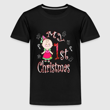 Funny Ugly Christmas My 1ST Baby Girl Toddler - Kids' Premium T-Shirt