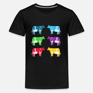 Colored Cow  cow colored cows - Kids' Premium T-Shirt