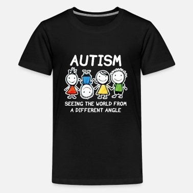 I See The World From A Different Angle Autism - Kids' Premium T-Shirt