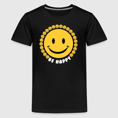 Be Happy Smiley Faces - Kids' Premium T-Shirt