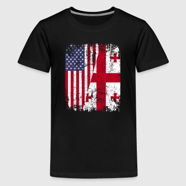 GEORGIAN ROOTS | American Flag | GEORGIA - Kids' Premium T-Shirt