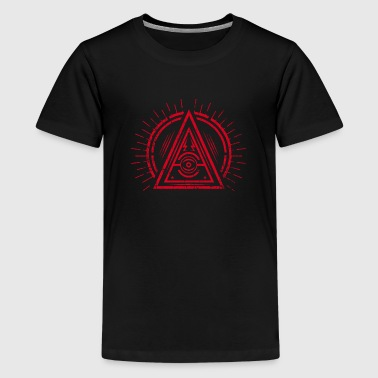 Illuminati Illuminati - All Seeing Eye - Satan / Black Symbol - Kids' Premium T-Shirt