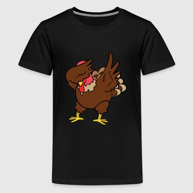 Happy Thanksgiving Dabbing Dab Turkey Gobbler - Kids' Premium T-Shirt