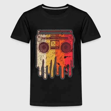 Retro Boom Box Melting Ghetto Blaster Rap Music - Kids' Premium T-Shirt