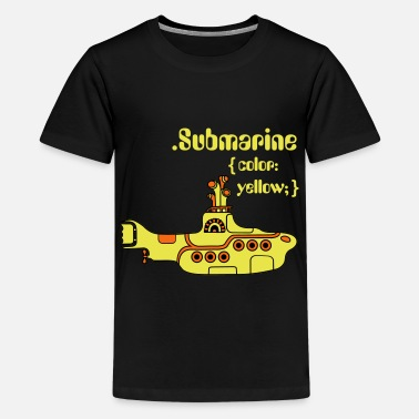 Beatles Kids Yellow Submarine in CSS - Kids' Premium T-Shirt