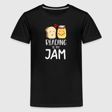 Reading Is My Jam - Funny Design for Bookworms and Book Lovers - Kids' Premium T-Shirt