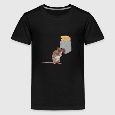 Mouse Reaching For Cheese In Your Fake Pocket - Kids' Premium T-Shirt