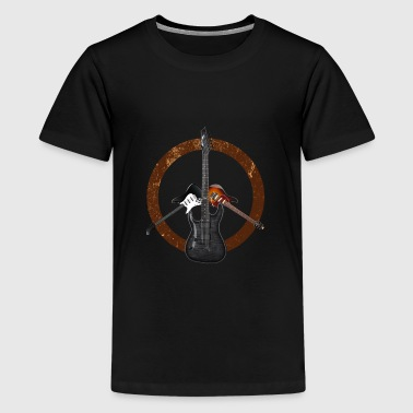 Electric Guitars Peace Sign Music Player Musician - Kids' Premium T-Shirt
