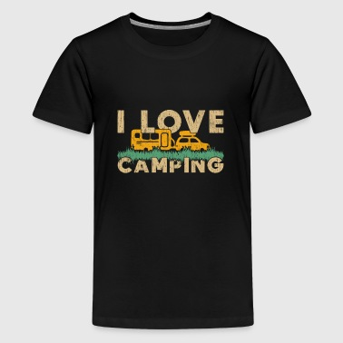I Love Camping camper tent gift quote love - Kids' Premium T-Shirt