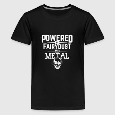 Powered By Fairy Dust and Metal - Kids' Premium T-Shirt