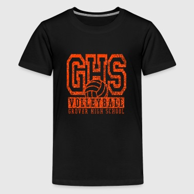 High School Volleyball VOLLEYBALL GROVER HIGH SCHOOL GHS - Kids' Premium T-Shirt