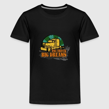 Brummi Big truck big dreams gift idea - Kids' Premium T-Shirt