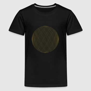 Yellow Circle with lines - Kids' Premium T-Shirt