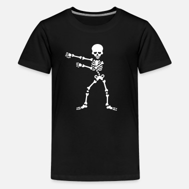 The floss dance flossing backpack boy kid skeleton - Kids' Premium T-Shirt