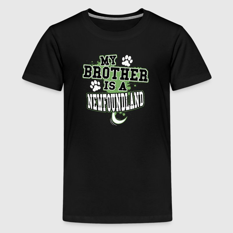 My Brother Is A Newfoundland - Kids' Premium T-Shirt