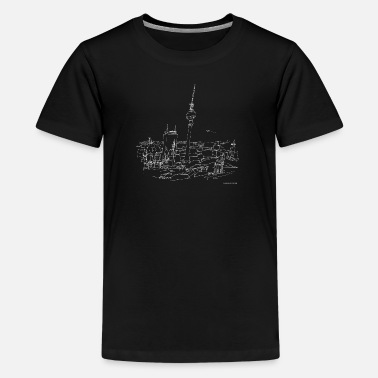 Bln Drawing Berlin (white) - Kids' Premium T-Shirt