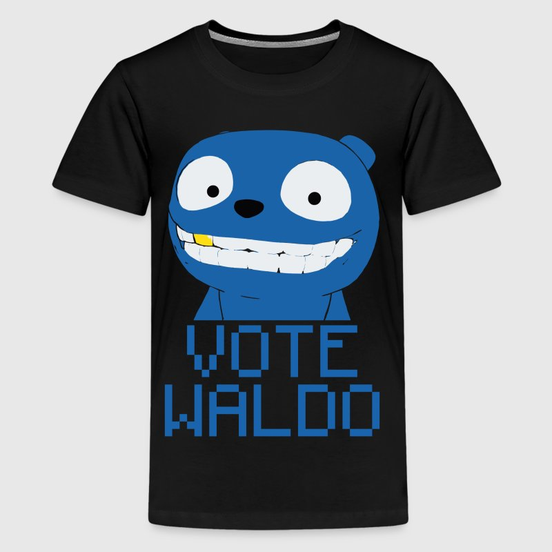 Vote Waldo – Black Mirror - Kids' Premium T-Shirt