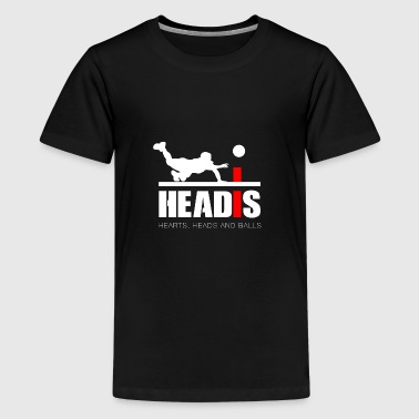 Headis Hearts, Heads and Balls - Kids' Premium T-Shirt