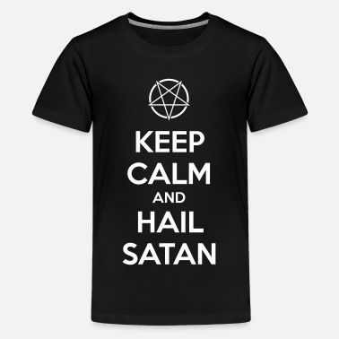 Wave Gotik Keep calm and hail Satan V.1 - Kids' Premium T-Shirt