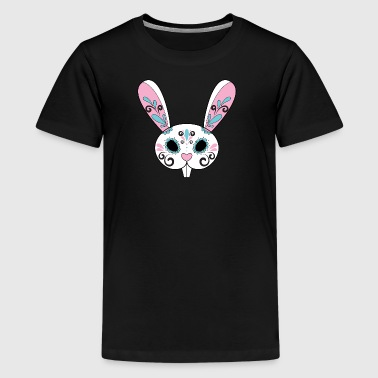 Day of the Dead Sugar Skull Easter Bunny - Kids' Premium T-Shirt