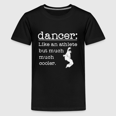Male Hip Hop Dancer Like an Athlete for dark - Kids' Premium T-Shirt