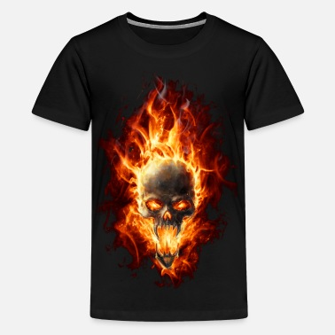 Fire Skull Skull with fire - Kids' Premium T-Shirt