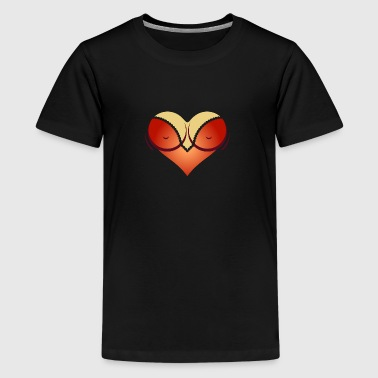 Heart-shaped Woman's Breasts With Deep Cleavage - Kids' Premium T-Shirt