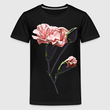 Delicate Carnation Wtih Buds - Kids' Premium T-Shirt