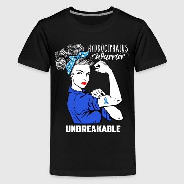 Hydrocephalus Warrior Unbreakable Awareness - Kids' Premium T-Shirt
