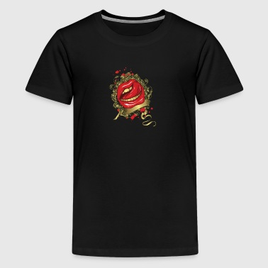 Tongue Stroking a Red Lips - Kids' Premium T-Shirt