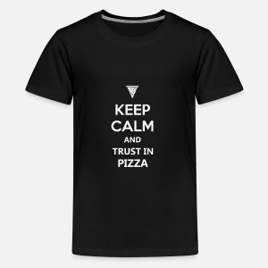 Keep Calm Quotes Funny Pizza Design Tee Gift by Mr.kram ...