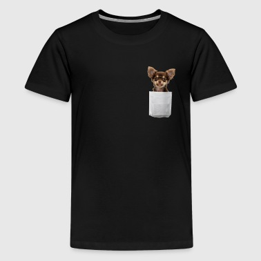 Pocket Tee Cute Chihuahua - Kids' Premium T-Shirt