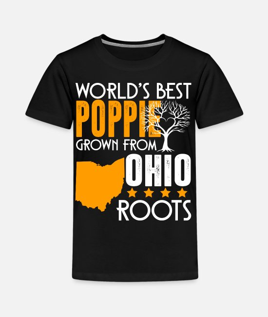 T-Shirts - World's Best Poppie Grown From Ohio Roots Shirt - Kids' Premium T-Shirt black