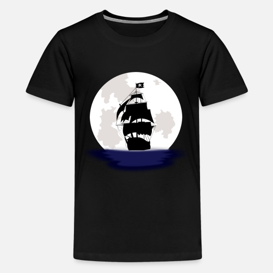 Kids Designs T-Shirts - Pirate Ship - Kids' Premium T-Shirt black
