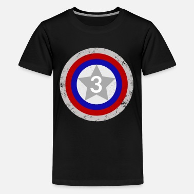 Captain 3rd Birthday Shield - Kids' Premium T-Shirt