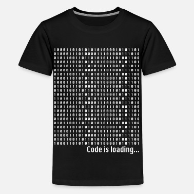 Binary Nerd Geek Code is loading binary numbers coding - Kids' Premium T-Shirt