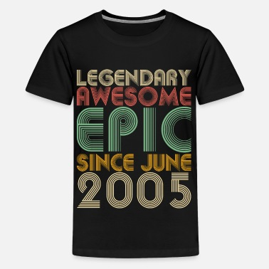 Secret Legendary Awesome Epic Since June 2005 Vintage - Kids' Premium T-Shirt