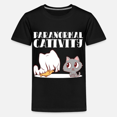 Cat Spooky Halloween Purranormal Cat Paranormal - Kids' Premium T-Shirt