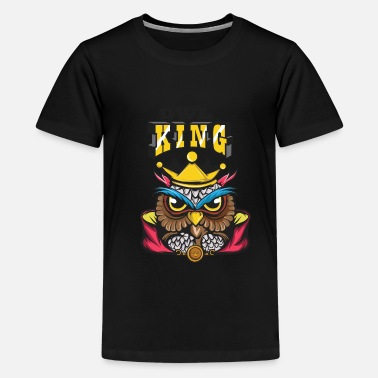 Crook Owl Lover? A Perfect Owls Tee For You Owl King - Kids' Premium T-Shirt