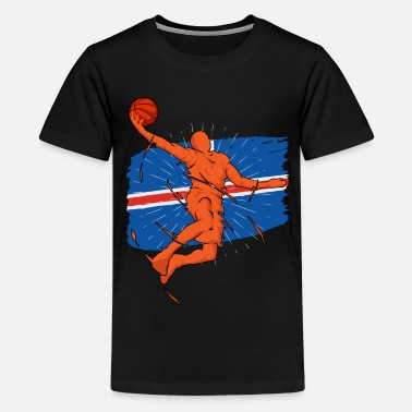 Yourself Iceland Basketball Player Silhouette Sporty Gift - Kids' Premium T-Shirt
