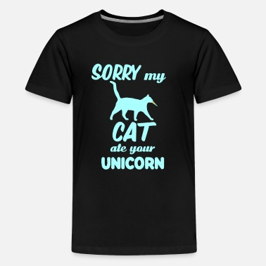 Dragon Unicorn Sorry My Cat Ate Your Unicorn Funny cat - Kids' Premium T-Shirt