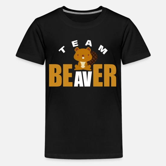 Gift Idea T-Shirts - Beaver River - Kids' Premium T-Shirt black