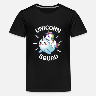 Fairy Tail Unicorn horse narwhal narwhale rainbow squad gift - Kids' Premium T-Shirt